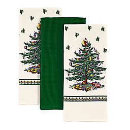 Spode® 3-Piece Christmas Tree Kitchen Towels Set