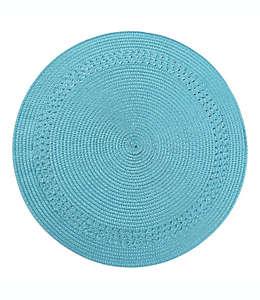 Mantel individual de polipropileno Destination Summer con borde color turquesa