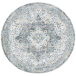 Bee & Willow™ Home Laurel Medallion 6'7 Round Area Rug in Beige/Ivory