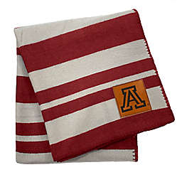 University of Arizona 70-Inch x 60-Inch Large Stripes Woven Acrylic Throw Blanket