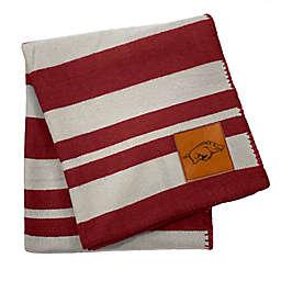 University of Arkansas 70-Inch x 60-Inch Large Stripes Woven Acrylic Throw Blanket