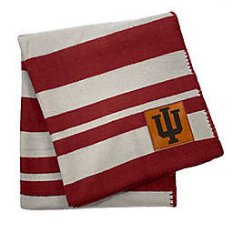 Indiana University 70-Inch x 60-Inch Large Stripes Woven Acrylic Throw Blanket