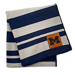 University of Michigan 70-Inch x 60-Inch Large Stripes Woven Acrylic Throw Blanket