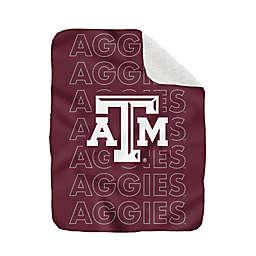 Texas A&M University 60-Inch x 70-Inch Echo Plush Logo Blanket