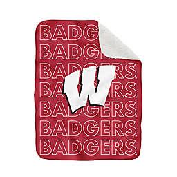 University of Wisconsin 60-Inch x 70-Inch Echo Plush Logo Blanket