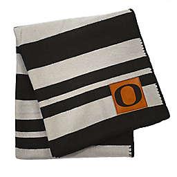 University of Oregon 70-Inch x 60-Inch Large Stripes Woven Acrylic Throw Blanket