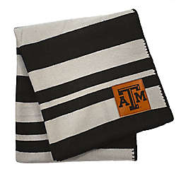 Texas A&M University 70-Inch x 60-Inch Large Stripes Woven Acrylic Throw Blanket
