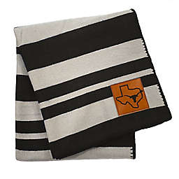 University of Texas - Austin 70-Inch x 60-Inch Large Stripes Woven Acrylic Throw Blanket