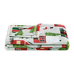 Little House Farm Plush Throw Blanket
