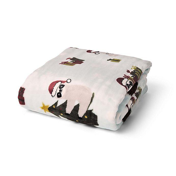 Alternate image 1 for Sloth Christmas Plush Throw Blanket