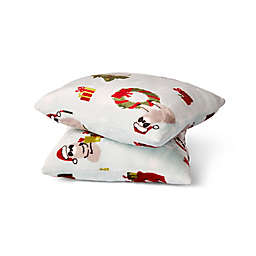 Sloth Christmas Plush Square Throw Pillows (Set of 2)
