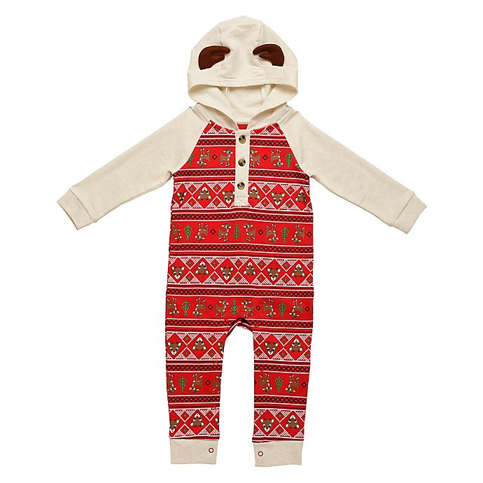 Alternate image 1 for Baby Starters® Rudolph the Red Nosed Reindeer Hooded Coverall in Red
