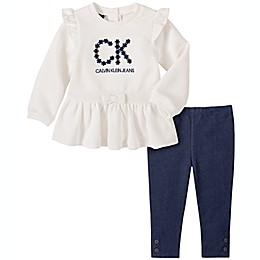 Calvin Klein 2-Piece Chest Logo Tunic Top and Legging Set