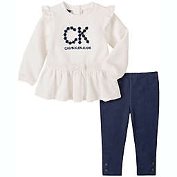 Calvin Klein 2-Piece Chest Logo Tunic Top and Legging Set