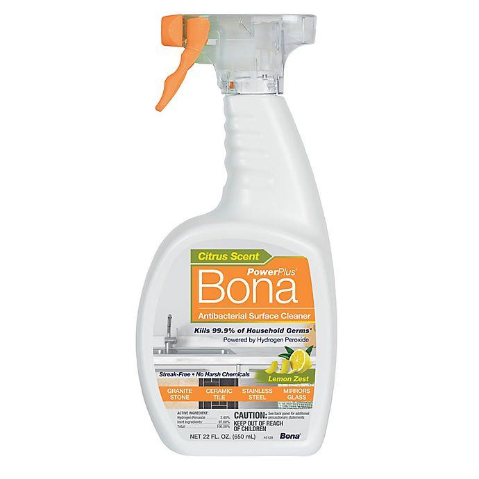 Alternate image 1 for Bona PowerPlus® 22 oz. Lemon Zest Antibacterial Surface Cleaner