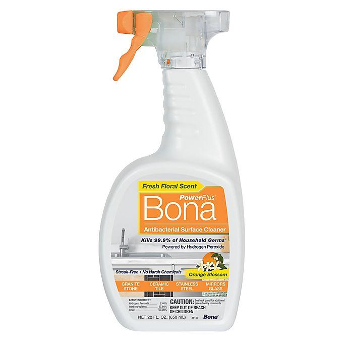 Alternate image 1 for Bona PowerPlus® 22 oz. Orange Blossom Antibacterial Surface Cleaner