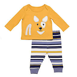 Baby Starters® 2-Piece Stripe Dog Top and Pant Set in Mustard