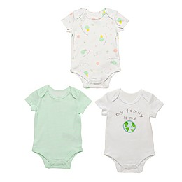 Baby Starters® 3-Pack Family World Bodysuits in White/Grey