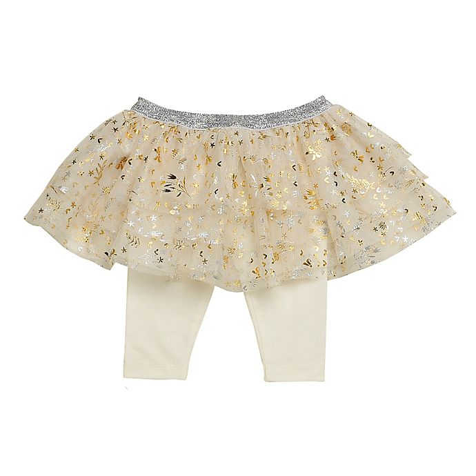 Alternate image 1 for Baby Starters® Tutu Leggings in Ivory
