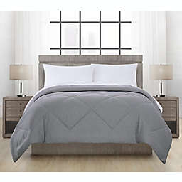 Brushed Microfiber Crosby Comforter in Charcoal
