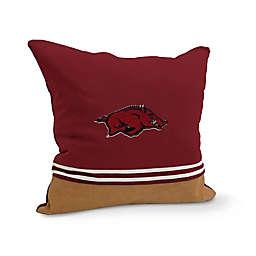 University of Arkansas Varsity Patch Square Throw Pillow