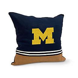 University of Michigan Varsity Patch Square Throw Pillow