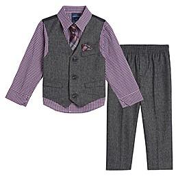 Nautica® 4-Piece Holiday Twist Vest, Shirt, Pant and Tie Set