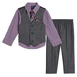 Nautica® Size 3-6M 4-Piece Holiday Twist Vest, Shirt, Pant and Tie Set