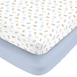 Carter's Dinosaur Cotton 2pk Ftd Crib Sheets