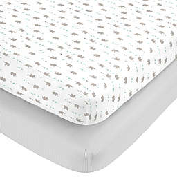 Carter's Dinosaur Cotton 2pk Ftd Crib Sheets