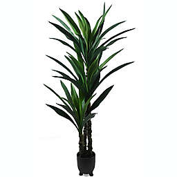 Global Caravan™ 56-Inch Faux Plant in Black Pot