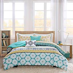 Intelligent Design Arissa 4-Piece Reversible Twin/Twin XL Comforter Set in Green