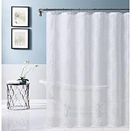 Isabella 70-Inch x 72-Inch Shower Curtain in White