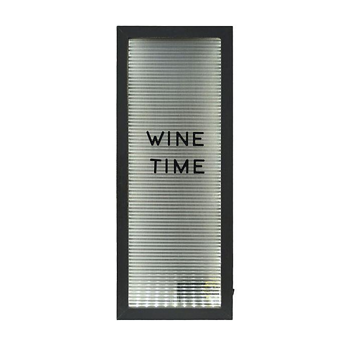 Alternate image 1 for Prinz Light-Up Wine Bottle Cork Holder Letterboard