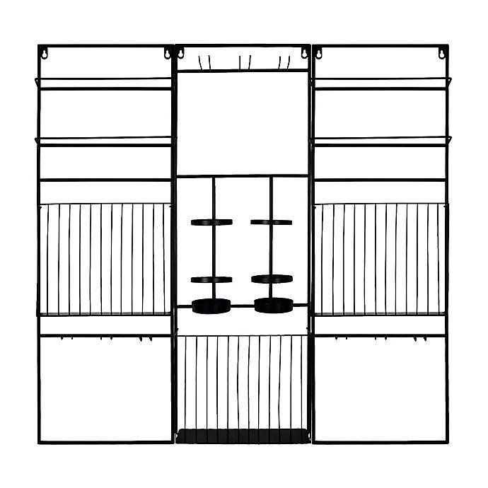 Alternate image 1 for Prinz 3-Panel Modular Wall Mount Wine Rack in Black