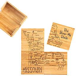 Totally Bamboo Missouri Puzzle 5-Piece Coaster Set