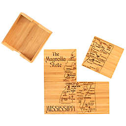 Totally Bamboo Mississippi Puzzle 5-Piece Coaster Set