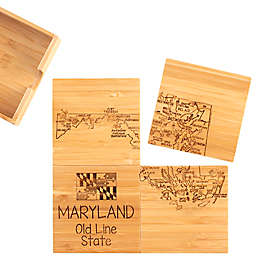 Totally Bamboo Maryland Puzzle 5-Piece Coaster Set