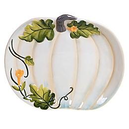 Certified International Harvest Gatherings Pumpkin Platter