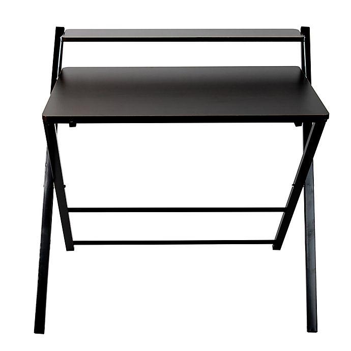 Alternate image 1 for Mind Reader Portable Folding Office Table in Wood/Black