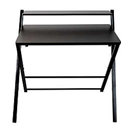Mind Reader Portable Folding Office Table in Wood/Black