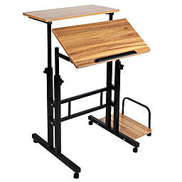Mind Reader Sitting/Standing Desk with Wheels