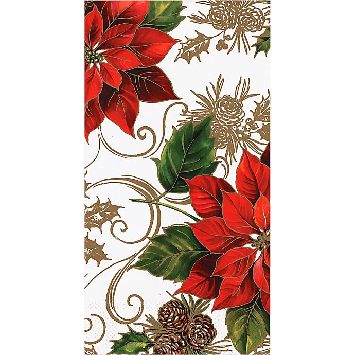 Alternate image 1 for Creative Converting™ 20-Count Pretty Poinsettia Paper Guest Towels