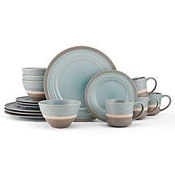 Pfaltzgraff® Adina Round 16-Piece Dinnerware Set in Cream/Brown