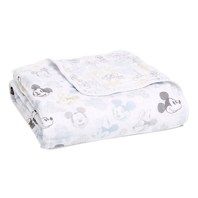 Alternate image 1 for aden + anais™ Disney Mickey and Minnie Dream Blanket in Grey