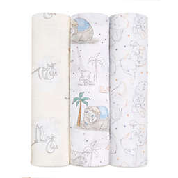 aden + anais™ Disney® 3-Pack Darling Dumbo Swaddles in Grey