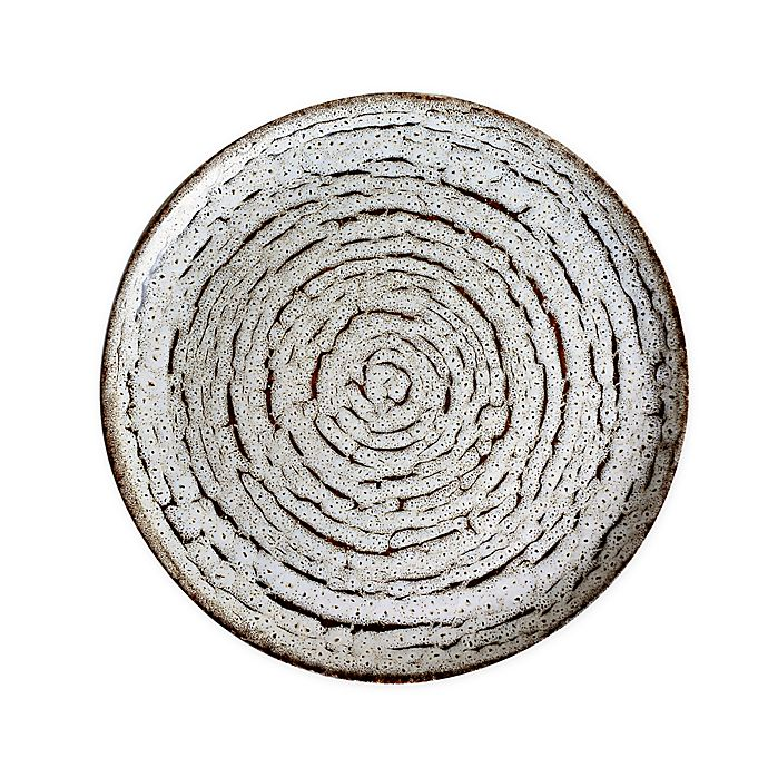 Alternate image 1 for Carmel Ceramica Truffle Dinner Plate in Brown