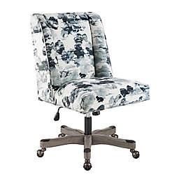 Linon Home Draper Office Chair in Blue Mira Floral