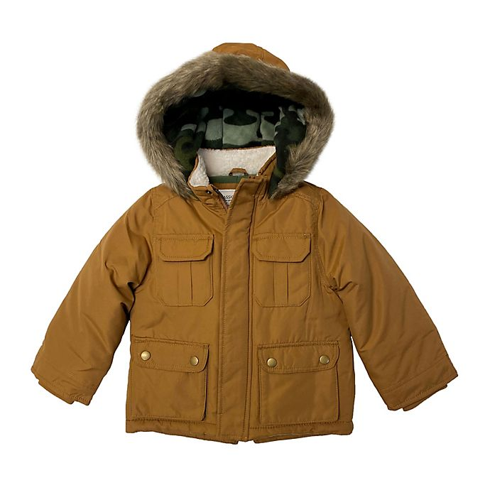 Alternate image 1 for carter's® Heavyweight Parka in Brown