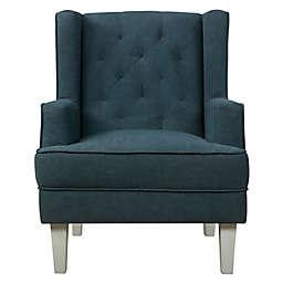 évolur Capri Wingback 2-in-1 Convertible Rocker/Accent Chair in Steel